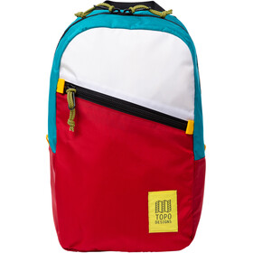 Topo Designs Light Sac À Dos, white/red/turquoise